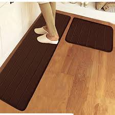 get ations ustide 2 piece kitchen rug set soft c fleece rug solid color grey stripe bath