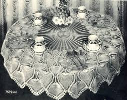 Crochet Tablecloth Pattern Gorgeous Pineapple Crochet Tablecloth Pattern Vintage 48's Etsy