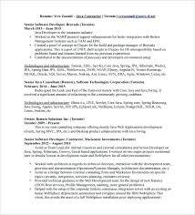 senior developer resume sample java developer resume template free word  excel senior dotnet developer resume sample