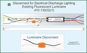 nec rules for installing lighting on circuits greater than 30v Wiring Lights In Series fig 3 for existing installed fluorescent luminaires without disconnecting means, a disconnecting means must be added when a ballast is replaced wiring lights in series or parallel