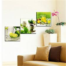 home office artwork. KING DO WAY 3 Panel Fruits Lemon Canvas Print On Wall Painting Artwork Home Office Art
