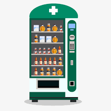 Drug Vending Machine Gorgeous Green Cartoon Drug Vending Machine Green Vector Cartoon Vector