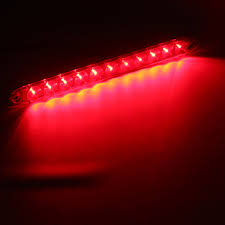 Red And Amber Led Light Bar 15inch Dc12v Red 4 Wires 11 Led Light Bar Stop Turn Tail 3rd Brake Lights For Truck Trailer
