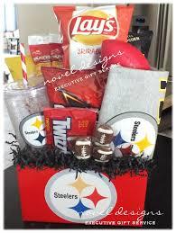 custom steelers fan gift basket w chips popcorn nuts snacks candy