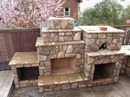 outdoor fireplace with pizza oven diy