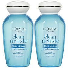 l oreal paris skin care clean artiste oil free eye makeup remover 2 count