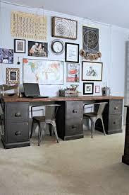 file cabinet desk diy home office diy