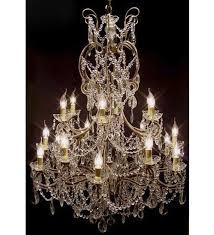 pristine crystal drop 18 light hale style with murano glass or swarovski crystal chandelier