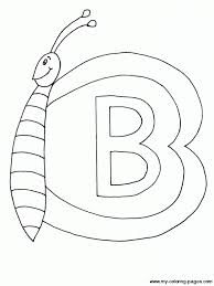 erfly upper case letter b coloring page
