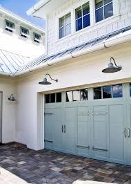 garage door lightsOutdoor Lighting  Garage doors Coastal cottage and Doors