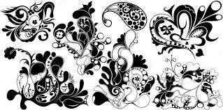 Vignette Design Artistic Vignette Floral Elements Designs Stock Vector