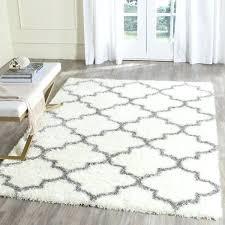 gray square pattern rug trellis ivory grey x