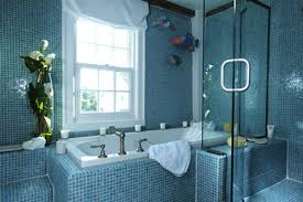 Blue Tiled Bathrooms Blue Master Bath Designed For Tranquility Bathroom Design Classic