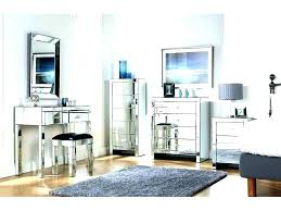 mirrored furniture. Mesmerizing Glass Mirror Bedroom Set Mirrored Furniture Large Size Of