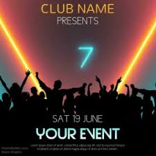 Party Templates Club Event Party Video Template Postermywall