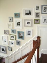 picture collage wall traditional entry