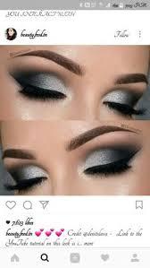 soooo pretty black and silver eye makeup grey eye makeup makeup for silver dress