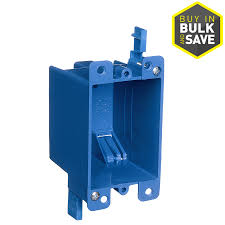 shop electrical boxes & covers at lowes com Old Military Fuse Box carlon 1 gang blue plastic interior old work standard switch outlet wall electrical box Old-Style Fuse Boxes