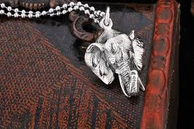 bangkok elephant head 925 sterling silver pendant