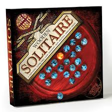 Wooden Solitaire Game With Marbles Standard Marble Solitaire Set House of Marbles USA 83