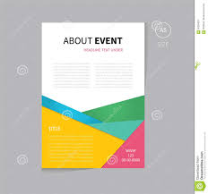 Flyer Background Design Free Vector Brochure Flyer Template Design A5 Size Stock Vector