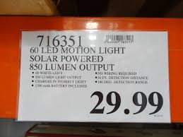 Solar Motion Detector Lights Costco Sunforce 60 Led Solar Motion Light