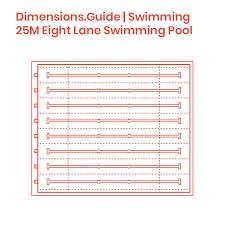 25m Eight Lane Swimming Pool Dimensions Drawings