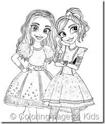 Descendants Coloring Pages Mal And Evie Color Bros