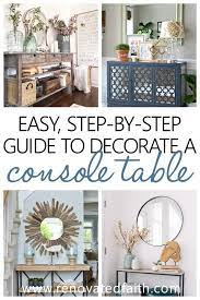 how to decorate a console table like a
