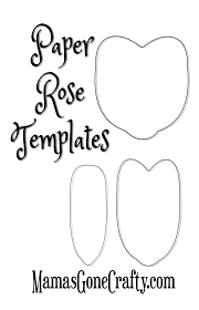 Free Paper Flower Templates Printable Rose Petal Printable Templates Paperflorals Pinterest Paper