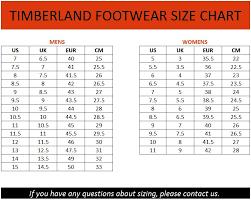 49 Cogent Timberland Width Size Chart