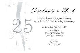 25th Anniversary Invitation Image 0 25th Anniversary Invitations