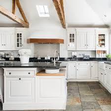 white country kitchens. White Country Kitchen With Wooden Beams White Kitchens