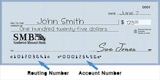 account number and routing numbers