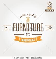vintage furniture logo. Contemporary Vintage Vintage Logo Badgeemblem Or Logotype For Furniture Shop  Csp26365168 On Furniture Logo V