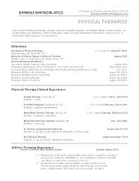 Physiotherapy Resume Sample Physical Therapy Resume Sample Awesome