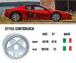 10 X 16 Wheel Rim Rear Felge Hinten Testarossa Monodado Ferrari Reference 132991 123167 Ital Spares