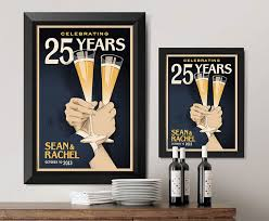 customizable toasting anniversary art anniversary gifts for pas