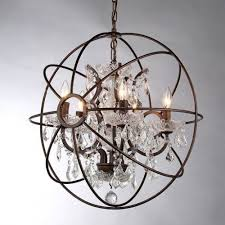 orb crystal chandelier rustic iron replica with most up to date crystal globe chandelier gallery
