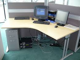 desk in office. Used Office Desk In L