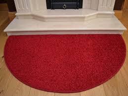 red half round rugs