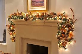 garland with lights outdoor 49306 lighted also fireplace garlands happy holidays source digsdigs large