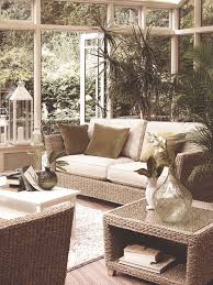 indoor sunroom furniture ideas. sun and garden rooms neutral palette wicker furniture window wall greenery indoor sunroom ideas
