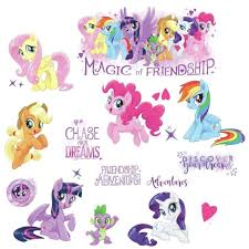 my little pony glittery wall decals room decor stickers equestria ponies