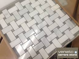 I Stunning Basket Weave Tile For Classic Bathroom Design Carrara Venato 12  Beige Mosaic  The With Gray Dot Flooring