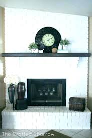 how to decorate a brick fireplace decoratg full wall