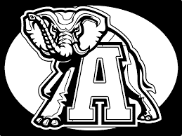 Alabama Crimson Tide Football Logo Coloring