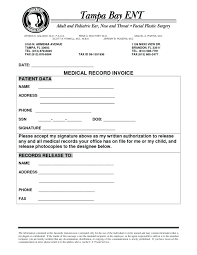Medical Release Form Sample Impressive Form Sample Medical Invoice Template Interpreter Records Record