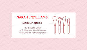 makeup artist business card maker