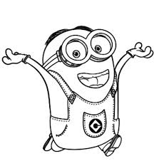 Small Picture Bob The Most Little Minion Coloring Page